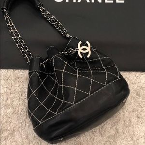 b4775a1d184745 Chanel COCO with Cc logo Bucket Black Leather